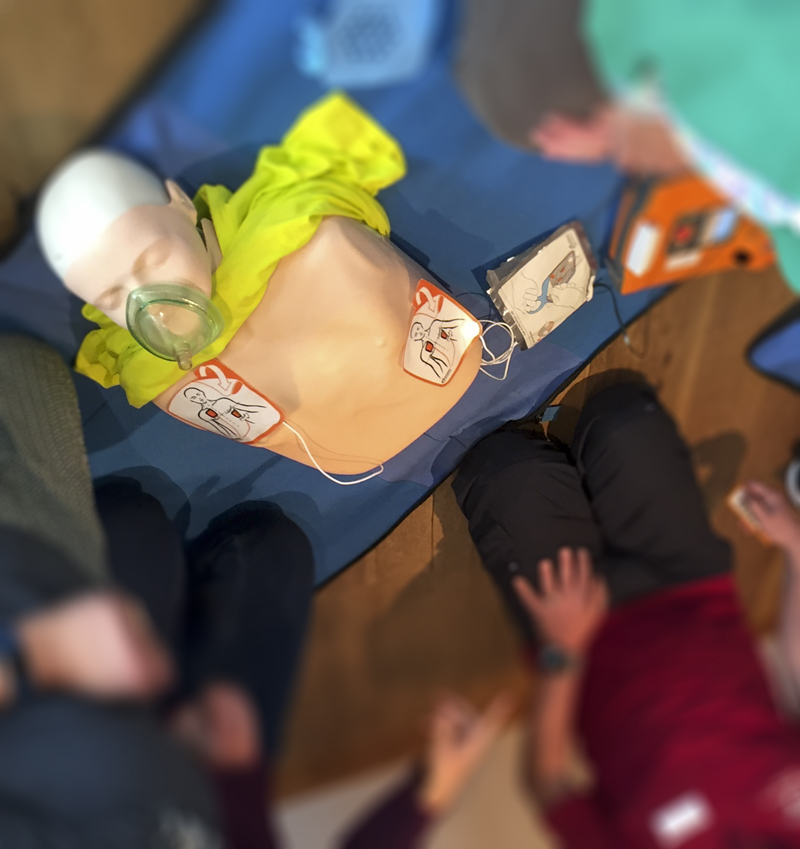 1. BLS AED Kurs erfolgreich